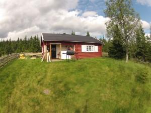 Rød hytte