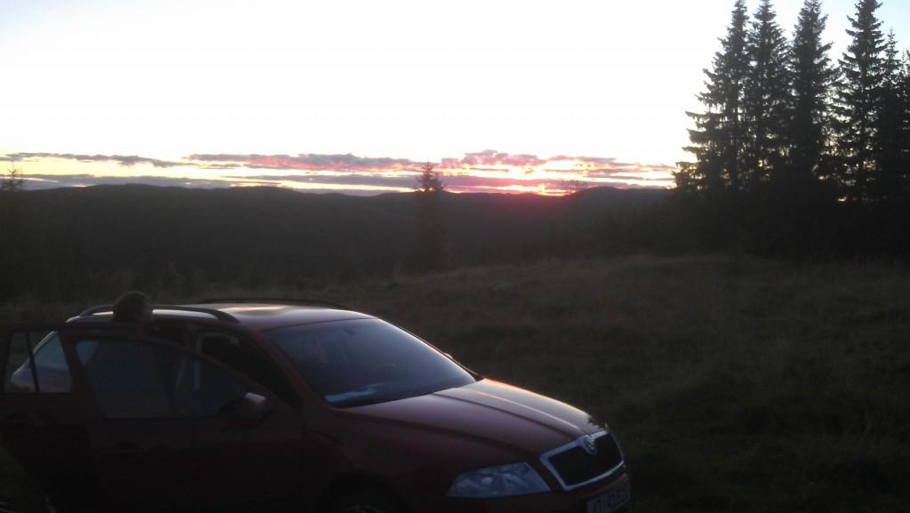 Litt solnedgang