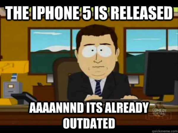 Outdated iphone meme