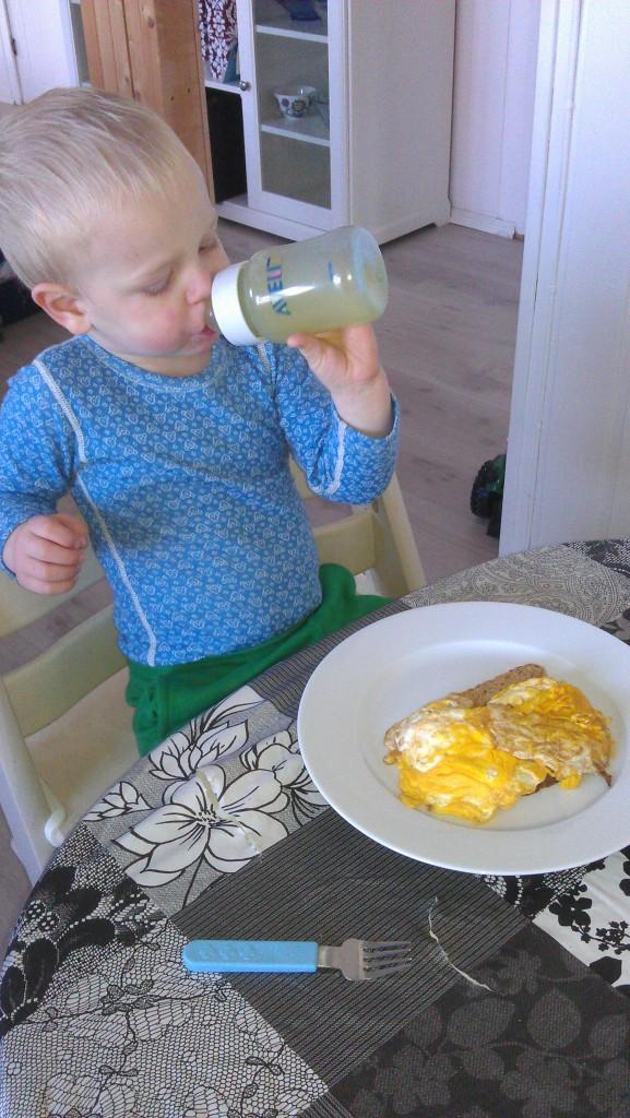 Disse eggene er tilbredt flate som en bæsj.