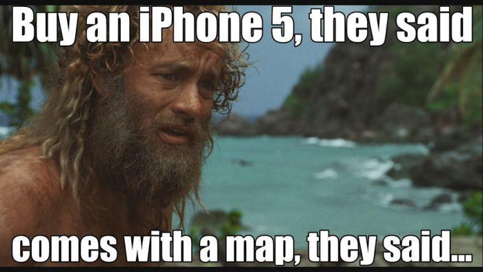 Apple har fått mye skryt for kartene sine på Iphone 5