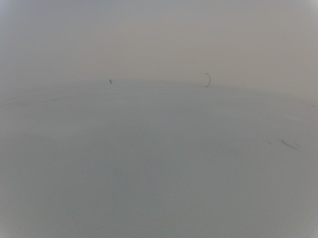 Kiting i tåke