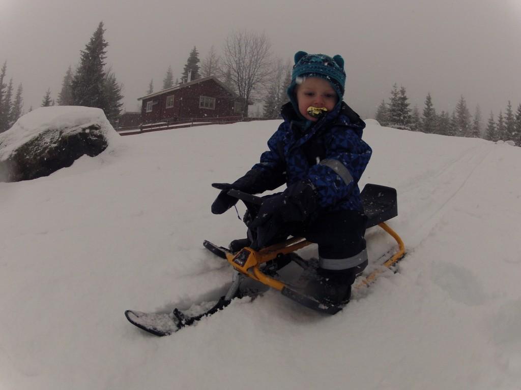 Fint med snø:)