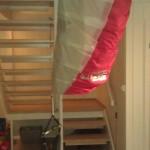 Flaks at man har en rød, hvit og grønn kite:P