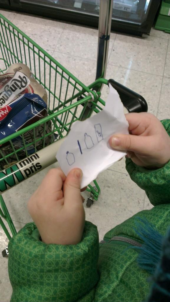 Handleliste for toåringer:)