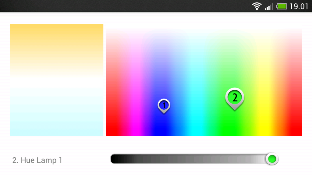 HUE Android app