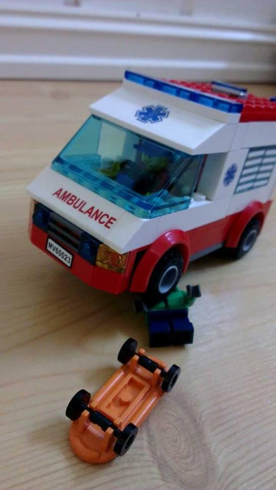 Legobil-ulykke