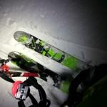 kite med ski på mjøsisen